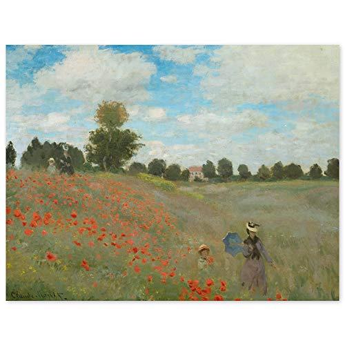 JUNIWORDS Poster, Claude Monet, Mohnfeld bei Argenteuil, 78 x 60 cm