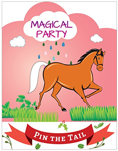 Pin the Tail on the Horse Party Favor Games Party Supplies,New, Extra Tails,Pin the Tail Games