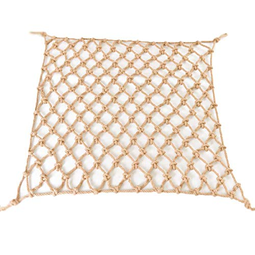 FXPCYGZ Kletterseil Net, 10mm Kinder Treppen Balkon Sicherheitsnetz Innen- und Außen Geländer Safety Net Zaun-Netz-Katze Netz hängende Retro Bar Dekoration Net Hanging(3 * 4m(10 * 13ft))