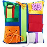 Fidget Pillow | Calming & Comforting Activities for Adults with Dementia | Sensory Pillow | Fidget Blanket for Seniors | Helps with: Alzheimers, Dementia, Asperger's, Autism | Includes Pillow Insert