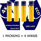 TronicXL - Batería AAA (950 mAh, Compatible con teléfono AEG Solo 10 15 Eclipse 15 Prism Voxtel D500 Lenovo T211 S2201)
