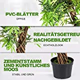COSTWAY Zimmerpflanze Deko, Kunstpflanze grün, Dekopflanze künstlich, Kunstbaum Pflanzendekoration Innendekoration für Zuhause Garten Büro (160x19x19cm) - 7