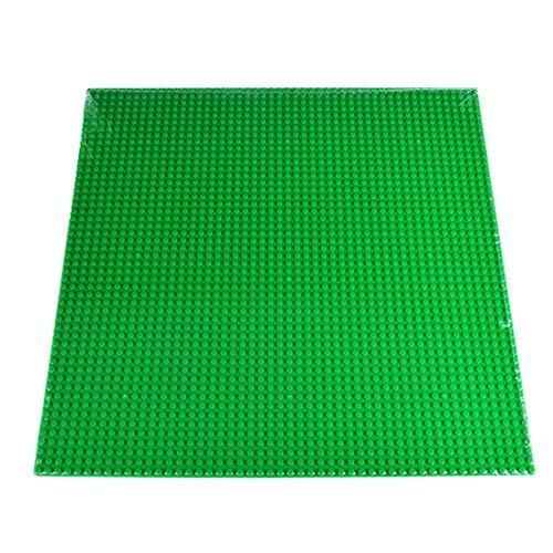 IT IF IT Bauplatte für Lego Stadtleben, Classic Bausteine Plastik Grundplatte 40cm*40cm/ 50x50 Noppen, Grün