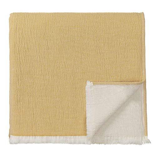 URBANARA 275 x 265 cm Tagesdecke/Plaid 'Anaba' Terrakotta/Naturweiß – 100% Reine Baumwolle – Ideal als Bettüberwurf oder Kuscheldecke — Stonewashed-Effekt — geeignet für Einzel- und Doppelbett