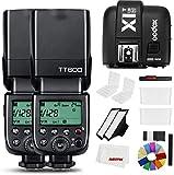 Godox TT600 2.4G Wireless Camera Strobe Flash Light GN60 Master/Slave Camera Flash con Trigger Speedlite (2 x TT600+X1T-N)