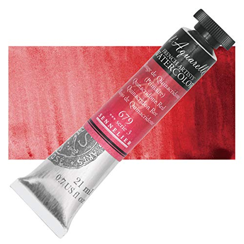 Sennelier L'Aquarelle French Watercolor, 21ml Tube, S3 Quinacridone Red