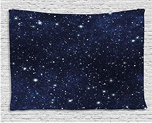 Nacht Tapisserie Stern gefüllt Dark Sky Vivid Celeste Cosmos Cluster Galaktik Sternbild Wandteppich für Schlafzimmer 150 x 200 cm