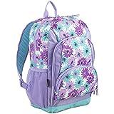 Eastsport Multi Pocket School Backpack, Lavender/Turquoise Floral Print