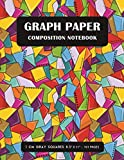 Graph Paper Composition Notebook: 1 cm Quad Square Graphing Paper for Primary School Students used for Maths and Science - Colorful Mosaic Pattern Cover