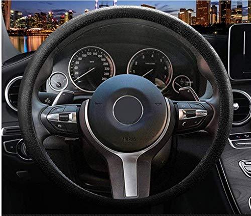 Sulida Steering Wheel Cover Auto Car Silicone Great Grip Anti-Slip Steering Cover for Diameter 36-38cm/13-15inch (black1)