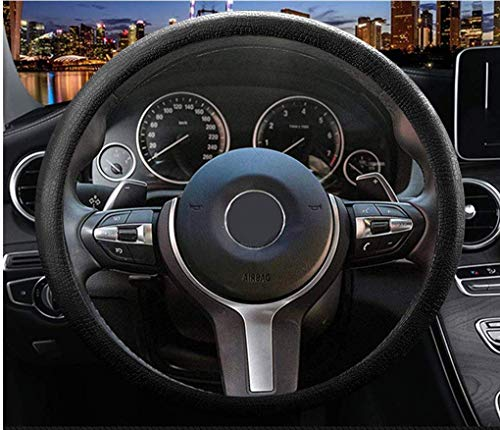 Sulida Steering Wheel Cover Auto Car Silicone Great Grip Anti-Slip Steering Cover for Diameter...