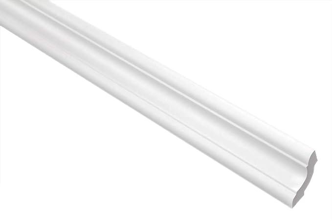 LED Stuckprofile f/ür Decken-// und Wand/übergang wei/ß modern 20 x 32 mm leicht und stabil extrudiertes Styropor XPS Zierleisten E-44 Sparpaket 4 dekorative Montagearten 20 Meter
