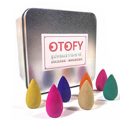 OTOFY 70 PCS Backflow Incense Cones Green Tea Incense Osmanthus