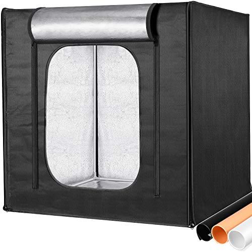 Neewer Kit Caja de Luz para Fotos Profesional de 80x80cm Brillo Ajustable Fotografía de Estudio Iluminación Tienda de Tiro con 3 Panel Luz LED 3 Fondos de Color Disparo de Múltiples Ángulo