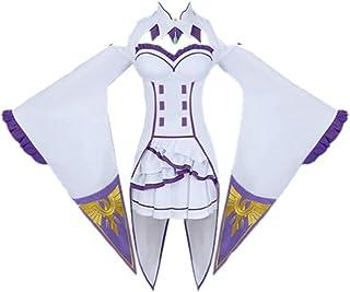 6 Piezas Anime Re: Zero Emiria/Emilia Halloween Carnival Cosplay Traje Lolita Gothic JK Trajes de Vestir
