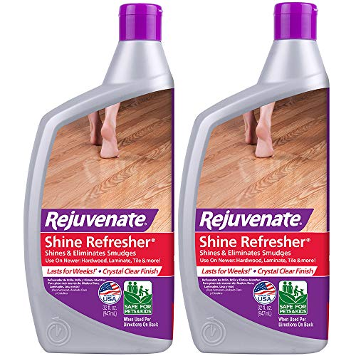 Rejuvenate Shine Refresher Polish Removes Scratches from Hardwood Floors Restores Shine and Protects Hardwood Laminate Linoleum Tile Vinyl and More (Pack of 2)