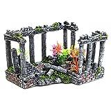 ZGPTX Pecera Artificial Columna Antigua Ruinas Adorno de Castillo para Decoraciones de Acuario Caja de Reptiles Paisaje
