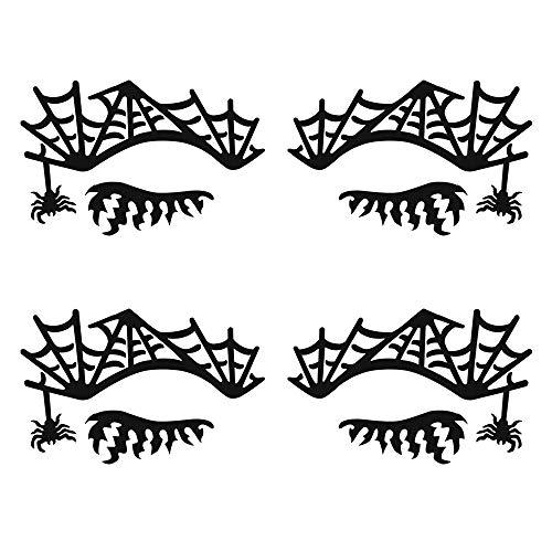 Freeorr 2PCS Lace Aufkleber Eye Tattoo Aufkleber für Halloween Party Maskerade oder Bühne,...