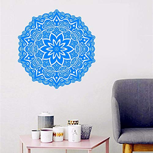 Uiewle Indian Wall Decals Mandala Flower Pattern Wall Stickers Home Decoration Living Room Bedroom 57x57cm
