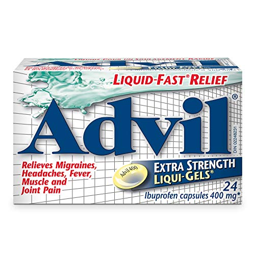Advil Liquid Gels Extra Strength, Ibuprofen 400mg, Tablets for Migraine, Headache, Joint, Muscle, Pain and Fever Relief…