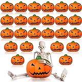 25 Pieces Halloween Pumpkin Stress Balls,...