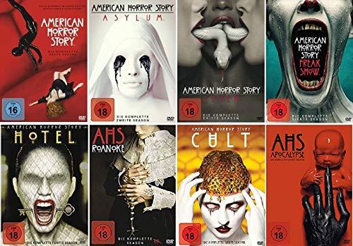 American Horror Story Staffel 1-8 (1+2+3+4+5+6+7+8, 1 bis 8) [DVD Set]