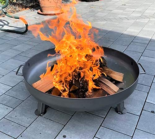 Photo of Czaja Stanzteile Fire Pit Bonn, Diameter 31,5″, Fire Bowl for Garden (Ø31,5 Inch with Drainage hole)