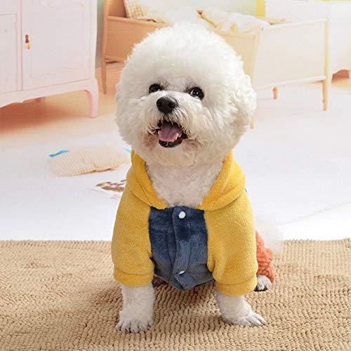 SALUTUYA Ropa de Halloween de Franela para Mascotas, Disfraz de casa para Perros y Gatos, para Tomar Fotos para Usar en otoño e Invierno(XL)