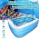 Koly-Hundebett Kinder Aufblasbar Schwimmen Schwimmbad,mit Elektrisch Pumpe Sehr groß,Einfach Einstellen, 57 x 41 x 20 Zoll Full-Size, zum Alter 6+,draussen Garten,Baby Familie Salon Schwimmbad.