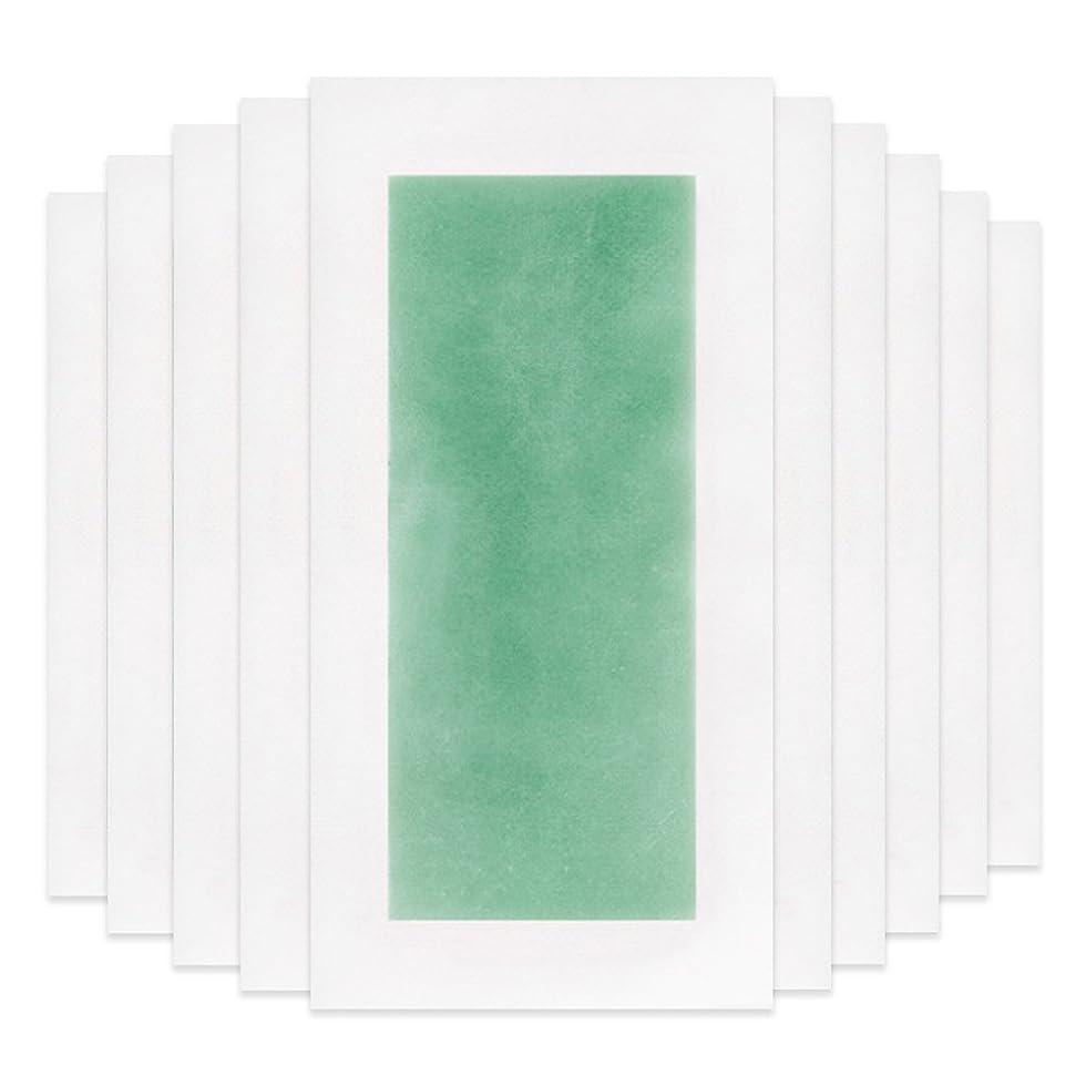 パッチ冊子位置づけるRaiFu 脱毛 コールド ワックス ストリップ 紙 脱毛紙 プロフェッショナル 夏の脱毛 ダブル サイド ボディ除毛 10個 グリーン