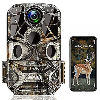 WiMiUS H8 WiFi Trail Camera【2021 Upgraded】 24MP 1296P HD Hunting Game Trail Cam with APP Control TV Transfer Night Vision Waterproof Motion Activated 0.3s Trigger Time for Wildlife Monitoring