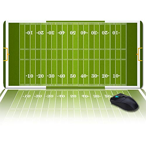 Large Gaming Mouse Pad Full Desk Pad-Football Field,Non-Slip Rubber Base Ergonomic XXL Keyboard Mat for Laptop/Computer/Desk Accessories
