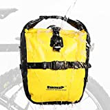 Rhinowalk Alforja para bicicleta de 20 l, impermeable, bolsa para portaequipajes, bolsillos laterales