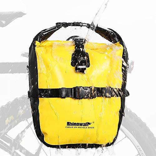 Rhinowalk 20L Bike Bag Waterproof Bicycle Pannier Rear Seat Bag for Cycling...