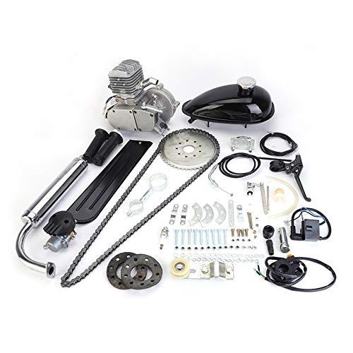 80cc Bicycle Engine Kit 2-Stroke Gas Motorized Bike Motor Kit 26' 28' Bicycle Motor Engine Kit Upgrade Silver