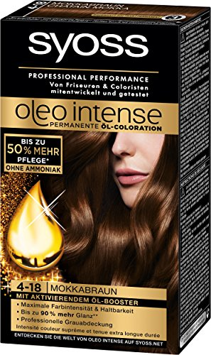 Syoss Oleo Intense Coloration 4-18 Mokkabraun, 3er Pack (3 x 115 ml)