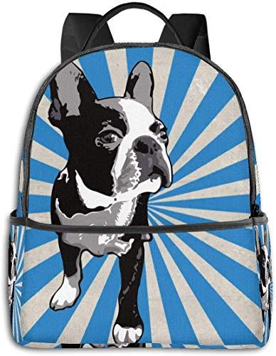 Rucksack für die Schule, große Kapazität, für Camping, Picknick, Fahrrad, Bohemian Elefant, Boho, Camping, Outdoor, Rucksack für Frauen, Männer, Geschenk für die Schule Boston Black Terriers Tie Dye Einheitsgröße