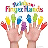 Accoutrements Rainbow Finger Hands Finger Puppets - Set of 10