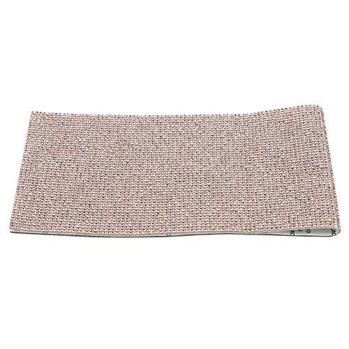 unknow Growrak - Hojas autoadhesivas de cristal de imitación de plástico ABS para decoración de coche, caja de regalo, decoración del hogar, dorado, S