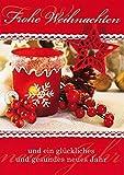 Weihnachtskarte Basic Classic - Teelicht - 11,6 x 16,6 cm