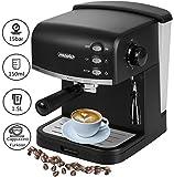 Espressomaschine | Kaffeemaschine | Milchaufschäumer | Cappuccinomaschine | Siebträger Espressomaschine | Elektrische Espressomaschine | Edelstahl Design | 1,6L Wassertank | 850 Watt |15 bar |