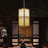WANIYA1 ソリッドウッドの竹アートペンダントライト中国風レストラン装飾シャンデリアシーリングランプホームライトタタミぶら下げカントリーレストランカフェバーテーブルゲームルーム