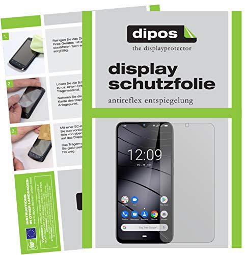 dipos I 5X Schutzfolie matt kompatibel mit Gigaset GS290 Bildschirmschutz-Folie (Kleiner als das Glas, da Dieses gewölbt ist)