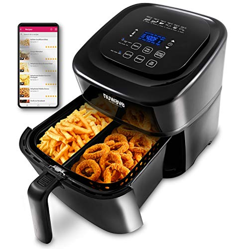 NUWAVE BRIO 6-Quart Digital Air Fryer with one-touch digital controls, 6 easy presets, precise...