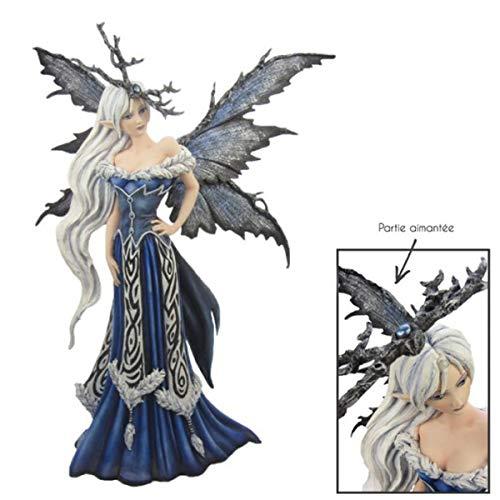 Les Trésors De Lily [Q4934 - Figurine 'Fairy Dreams' Bleu Blanc (Reine des neiges) - 47 cm