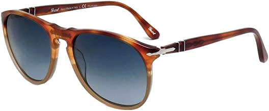 عینک آفتابی مردانه پرسول قهوه ای / استات آبی - قطبی - 55 میلی متر