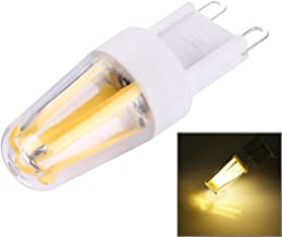 SGJFZD PC Material Dimmable 4 LED Filament Light Bulb for Halls, G9 2W AC 220-240V (Color : Warm White)