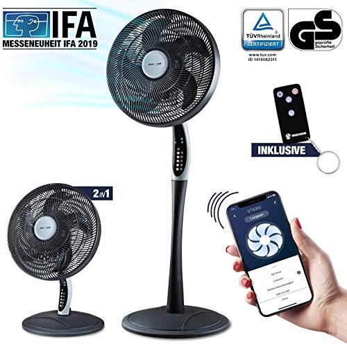 2in1 staande ventilator extra zacht | smarte Tuya app + Amazon Alexa + Google Assistent | VTX300 55W tafelventilator met afstandsbediening & display voor slaapkamer | RelaxxNow airconditioner + in mini