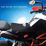 favourall Funda de Asiento para Moto, Funda de Asiento de Malla Transpirable, Antideslizante, Funda de Asiento para Moto, Accesorio para Moto