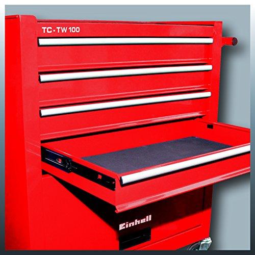 Einhell Werkstattwagen TC-TW 100 (max. 75 kg, 4 leichtgängige Schubladen, 4 drehbare Rollen) - 2